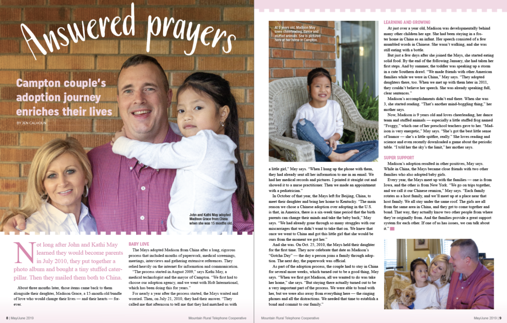 Answers Prayers magazine article