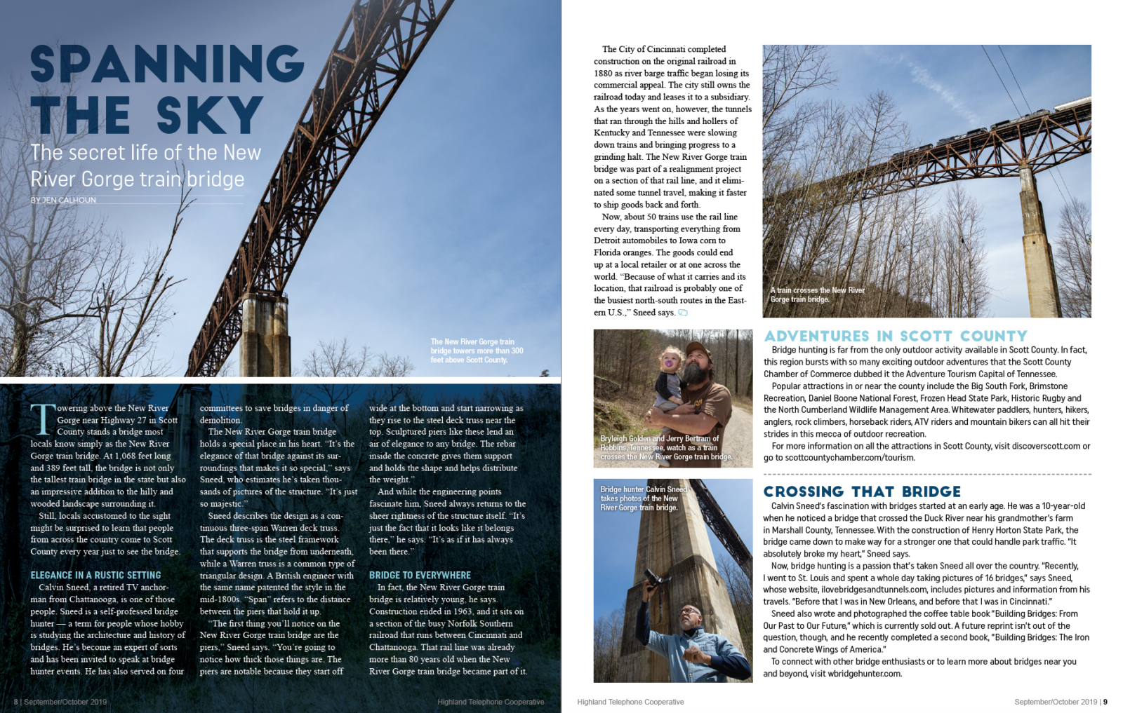 Spanning the Sky magazine article