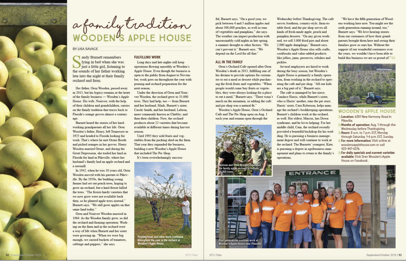 A Family Tradition magazine article