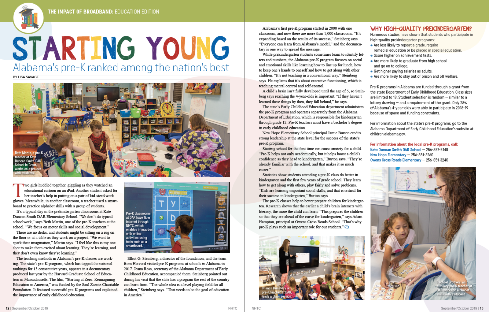 Starting Young magazine article