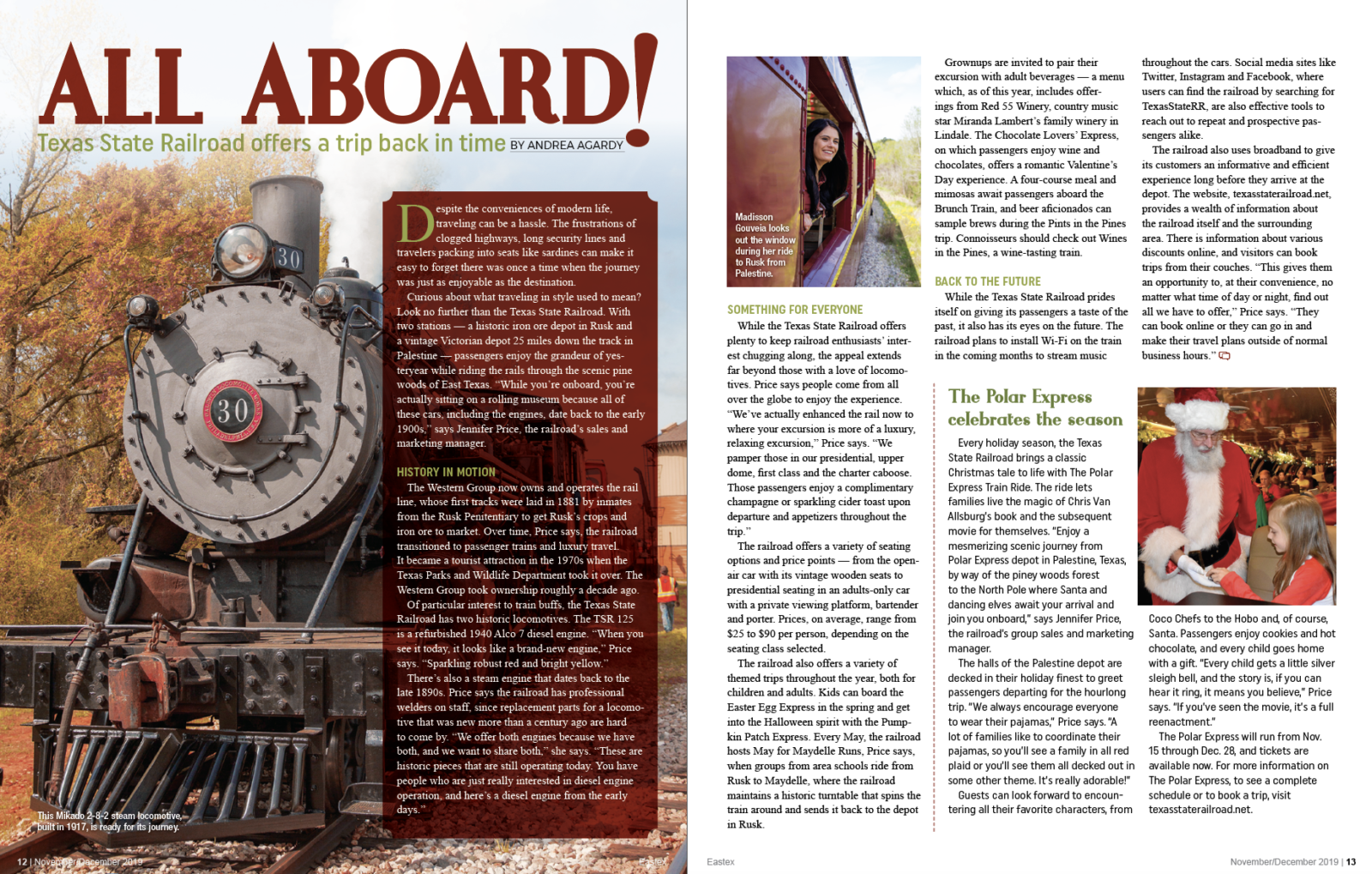 All Aboard! magazine article